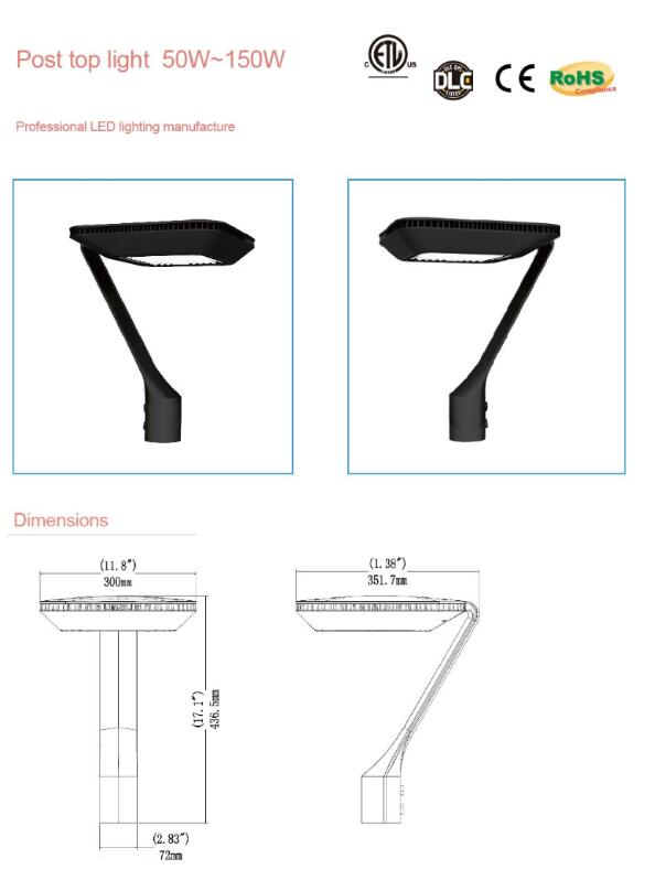 120LM / W 100W led yard light with 60 85*135 110 140 DEGREE beam angle