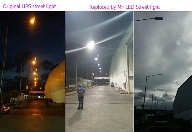 60W led street lights with Photocell sensor, 150lm/w, DLC,ETL listed, die-casting