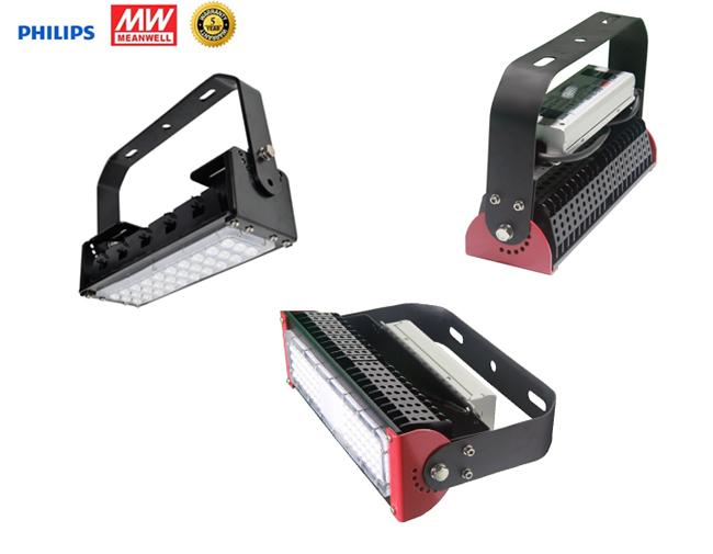120 Lm / W 50W Waterproof Led Flood Lights Black / Red Shall Cover Adjustable Module