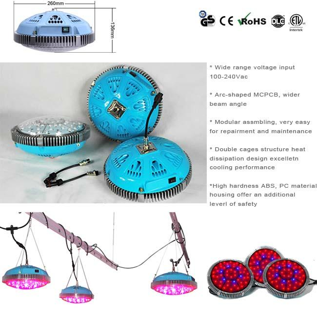 Commercial Agriculture Plant UFO LED Grow Lights With Full Spectrum 90 Watt
