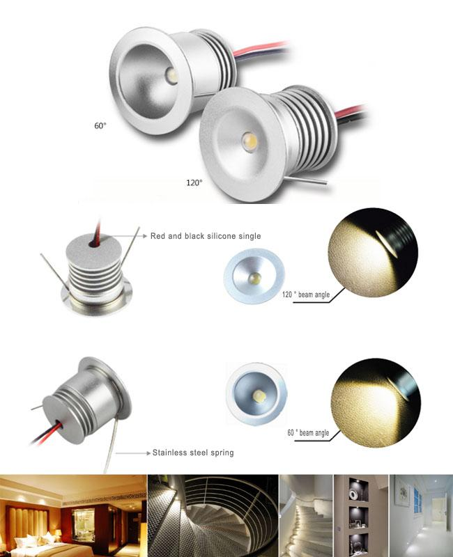 CRI 80 1 Watt Small Recessed LED Downlights 98LM/W For Washroom , Bathroom