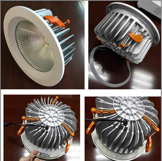 40w COB Led Downlight  IP44 8 Inch Cut Out 208mm Dali Dimmable Driver