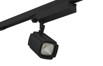 ประเทศจีน 50Watt LED Track Lighting Aluminum Alloy Matt Black 5 Years Warranty ผู้ผลิต