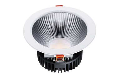 ประเทศจีน 3000LM COB Led Down Light Fixtures Kitchen Downlights Led With Reflocter Cover โรงงาน