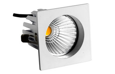 ประเทศจีน 9W 45° Beam Angle Dimmable LED Down Lights With Edison Chip Sqaure 750LM CRI83 โรงงาน